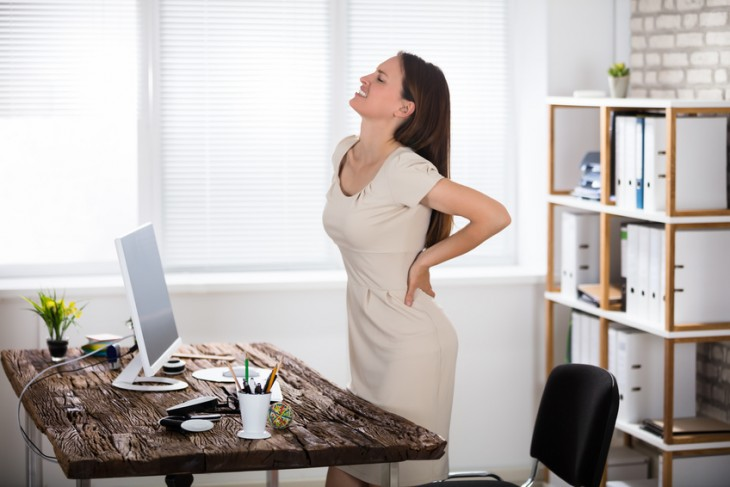 Správny sed a cviky v práci