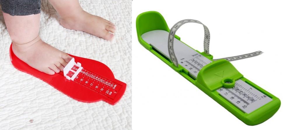 merače veľkosti detskej nohy